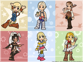 Final Fantasy XII Chibi Wall by desfunk