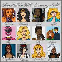 My 2015 Art Summary by Femmes-Fatales