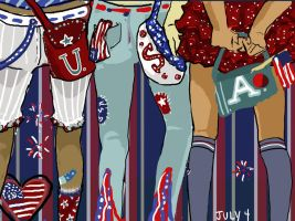 Daily Doodle: July 4 by fastclickchic0413