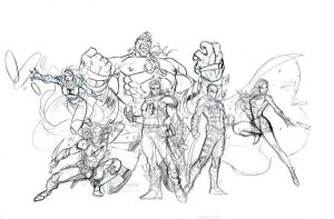 Heroes Pencils by SaviorsSon