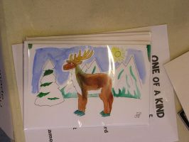 Green Reindeer Card by EmperorNortonII
