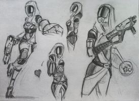 sketches Tali (70) by spaceMAXmarine
