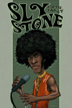 Sly and the Family Stone by RC-draws