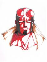 Hellboy Sketch by blackangelofmine
