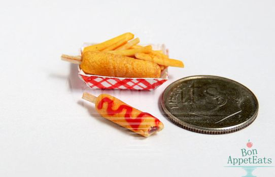 1:12 Corn Dogs and French Fries by Bon-AppetEats