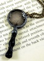 Broken Magnifying Glass by NeverlandJewelry