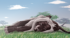 Haze is sleeping by Rikuko