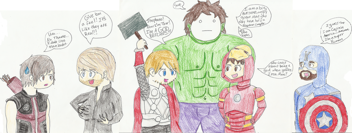 Youtubing Avengers~ by Snapes-Girl-Kat