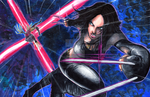 X-23 VS Lady Deathstrike by matsuyama-takeshi