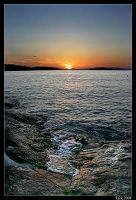 Mljet - Sunset 2 by Klek