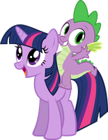Spike and Twilight Vector by AlmostFictional