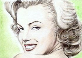 Marilyn Monroe miniature by whu-wei