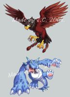 Eagle and dragon monster by J-C