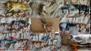 Animal figures for sale! Group 1 by Lot1rthylacine