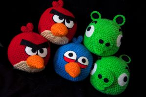 Angry Bird Plush Toys by rainbowdreamfactory