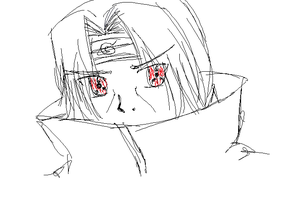 Itachi doodle by bright-as-a-button