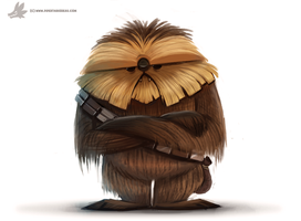 Daily Painting 873. #chewbacca by Cryptid-Creations