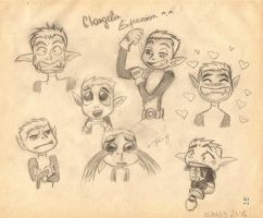 Beast Boy's Expression by Tolina