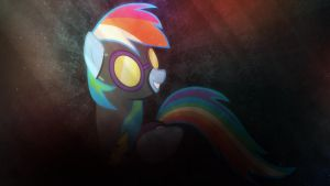 Wallpaper ~ Rainbow Night by Makkah-Chan