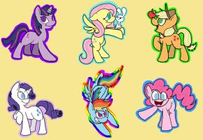 MLP stickers 1 by LordBoop