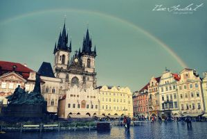 Rainbow in Prague by IsacGoulart