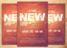 All Things New Church Flyer Template by loswl