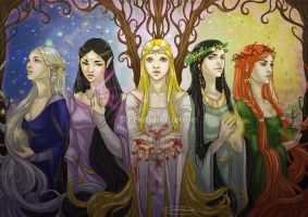 Silmarillion's Maidens by CristianaLeone