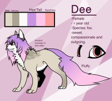 :PC: Dee reference sheet by Akorrn
