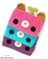 leafy bear gadget cozies by adorablykawaii