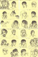 Post-It Doodles Page1 by leighanief