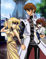 Commisson: The Kaiba Family - On a Stroll by FlareKoshiru