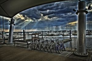 National Harbor Sun Rays by Tyler007