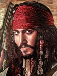 Jack Sparrow oil painting version 2 by moisessurielart