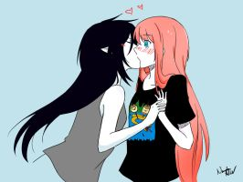 Marceline Abadeer and Bonnibel Bubblegum by MeowMeowMustache