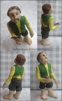 Bilbo Baggins Ceramic Figurine by HylianJean