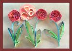 Golden Jubilee Card - Quilling by JyotiRaut