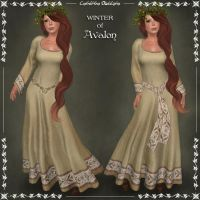 WINTER of Avalon Celtic Dress by Elvina-Ewing