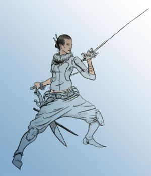 Fencer by TheIronShoes