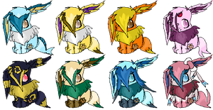 Eevee Adoptables  - Almost Evolved .::CLOSED::. by StarryAdopts