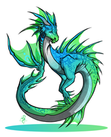 Hatched : Water Dragon by Arofexdracona