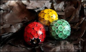 Dragon's eggs - GameofThrones inspired glass beads by Faeriedivine