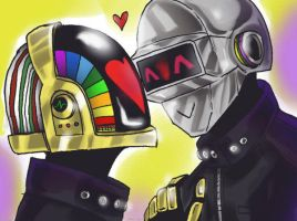 Daft Punk Love by LadyDeadPooly