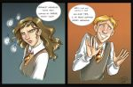 Silly Hermione+Ron_color by roby-boh