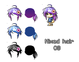 Mixed/Custom Hair #3 by xBeyondSoul