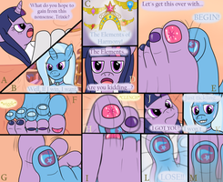 RQST: Twilight n' Trixie Footsie Comic, pg. 2 by DarkChocolateMXR
