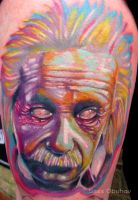 Zombie Einstein by sass-tattoo