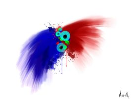 red and blue by levevani