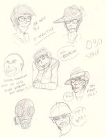 TF2- Practice Sketchies by animedragoon3