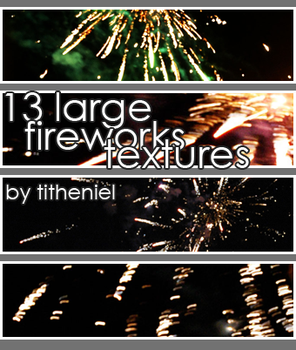 Large Fireworks textures by titheniel