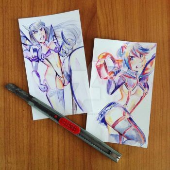 [KILL LA KILL] pocket-size heroines by MariaMediaHere